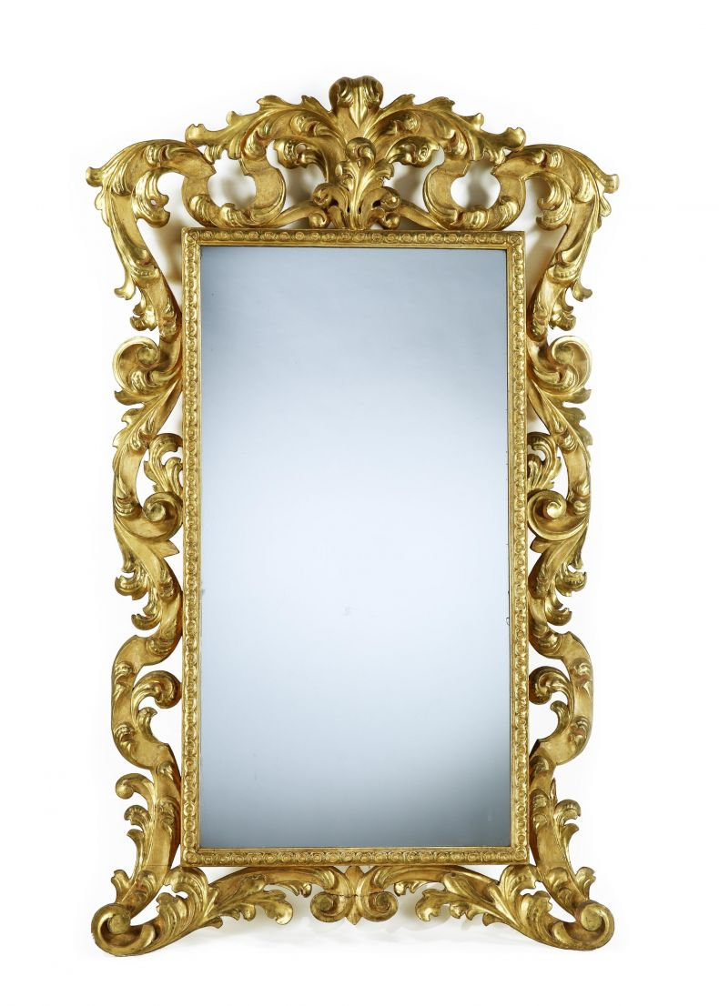 Large Carved and Gilt Florentine Mirror_0