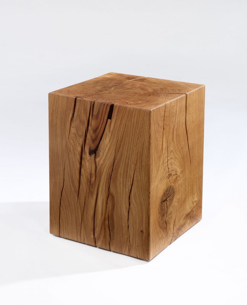 Oiled Solid Oak Cube Table by Rose Uniacke_0