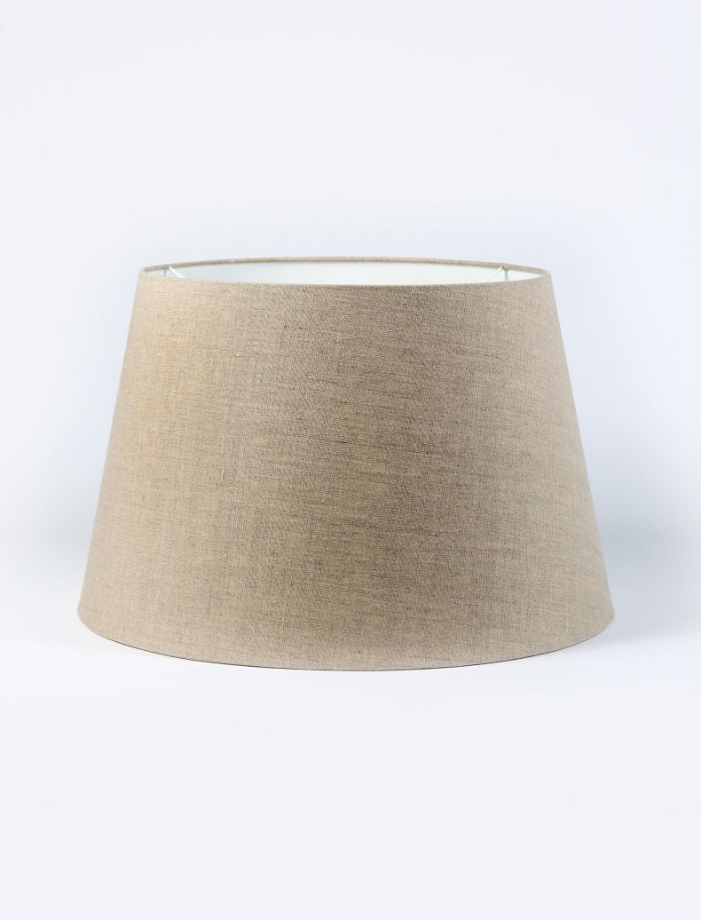Natural Linen Drum Shade_0