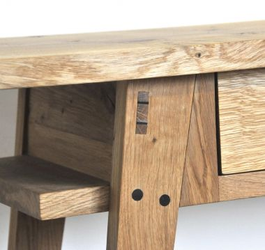Oak Console Table with Drawers by Rose Unaicke_3