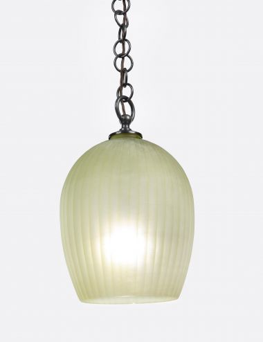STOCKED - Citrine Glass Lantern with ribbed cutting_0