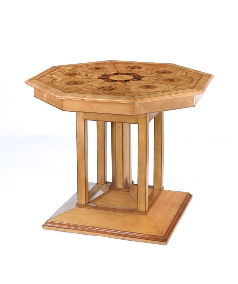 Marquetry Inlaid Centre Table_0