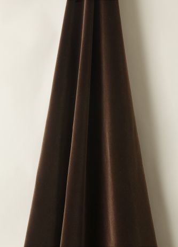 Cotton Velvet in Cocoa