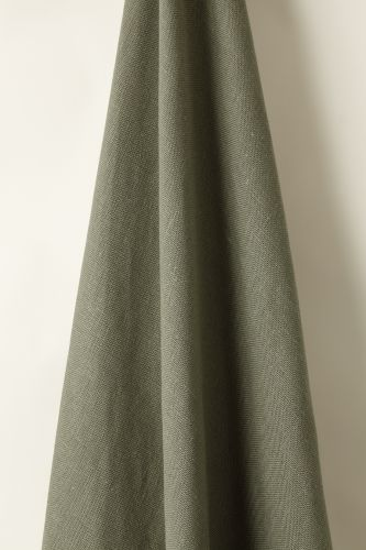 Heavy Weight Linen in Olive