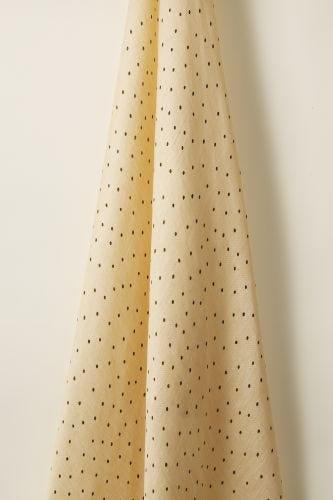 Sheer Linen in Olive Spot on Honey