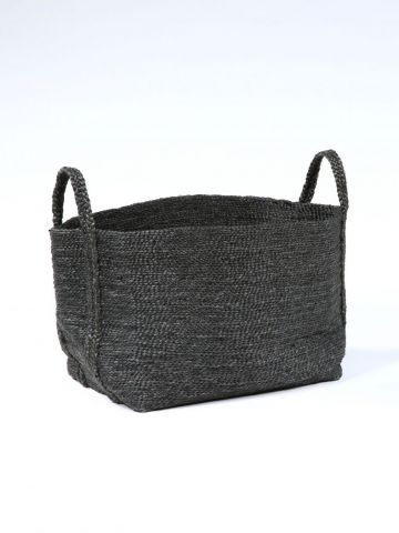 Large Square Basket in Jute