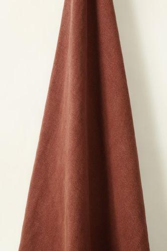 Heavy Weight Linen in Firebrick