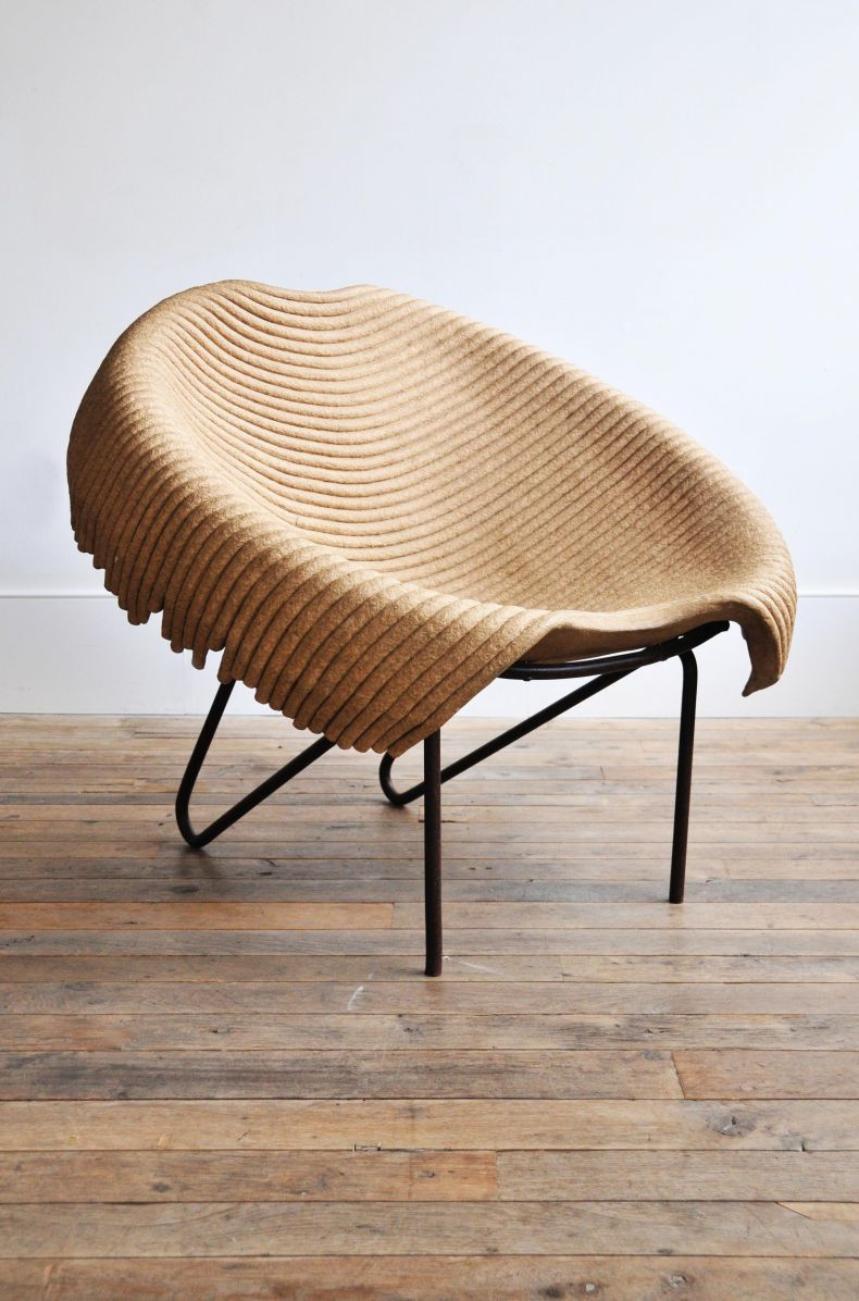 \'Up-Cycled\' Tub Chair by Domingos Totora_0