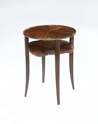 Art Deco Tigerwood Occasional Table_0