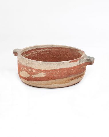 Mughal Period Red Sandstone Handled Vessel_0