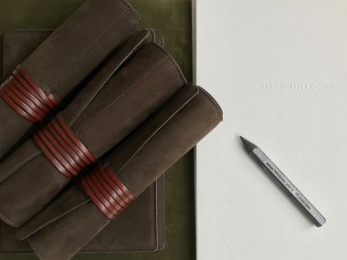 Nubuck Pen & Pencil Roll by Rose Uniacke_5