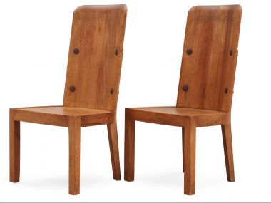 Set of Four High Back 'Lovö' Chairs by Axel Einar Hjorth_2
