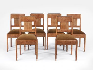 Set of Six Art Deco Dining Chairs by Hendrik Wouda_2