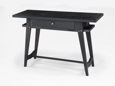 Ebonised Oak Console Table with Drawers_1