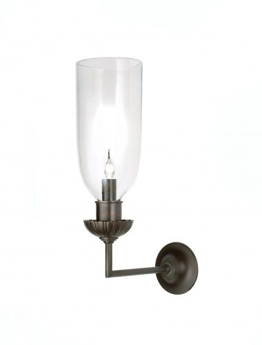 A right angle wall light by Rose Uniacke in dark bronze