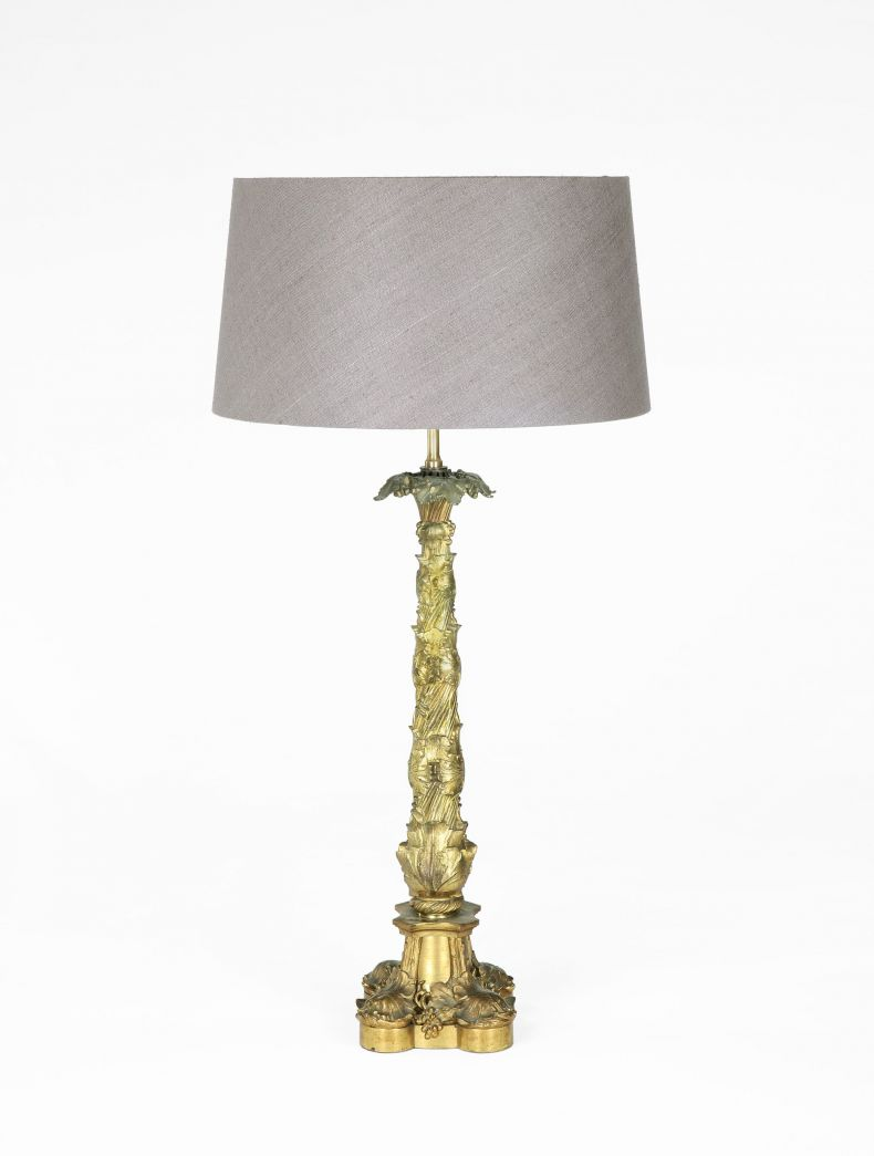 Pair of William IV Gilt Bronze Table Lamps_0