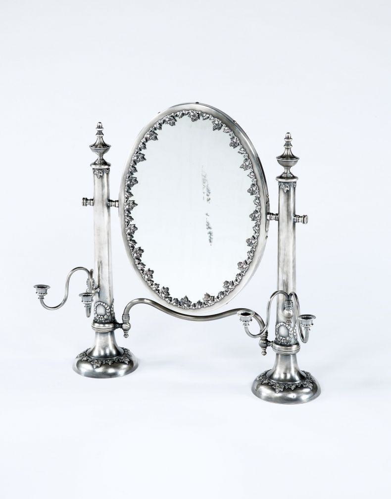Antique A neoclassical dressing table mirror
