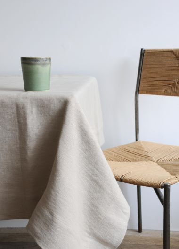 Rectangular Tablecloth in 'Otter' Heavy Weight Linen_1