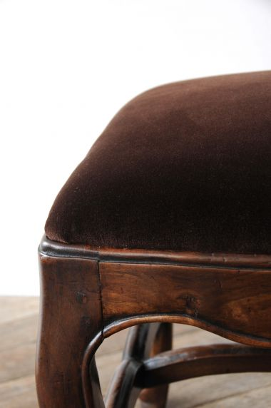 18th Century Spanish Walnut Stool_2