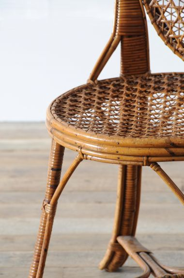 Pair of Cane & Bamboo Side Chairs_2
