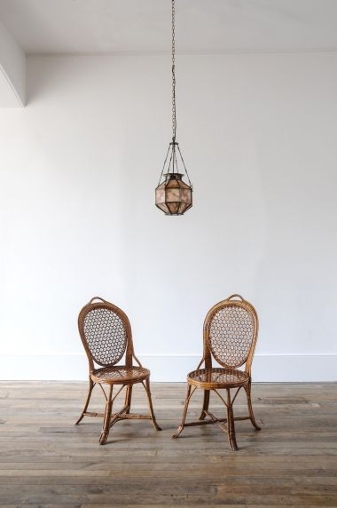 Pair of Cane & Bamboo Side Chairs_5