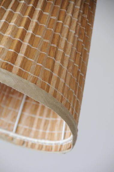 1950's Brass Standard Lamp with 'Strip' Shade_5