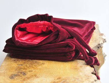 Christmas Sack Burgundy Velvet_2