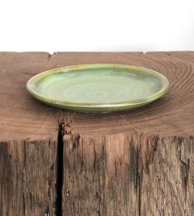 Ceramic Plate in Moss Green_1