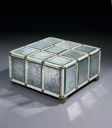 Large Rare 18th Century Mirrored Casket_0