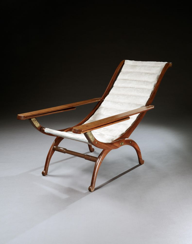 Brass Mounted Rosewood Planters Chair_0
