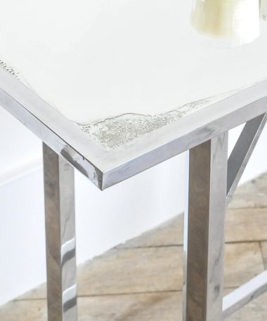Nickel Plated & Mirrored Occasional Table_1