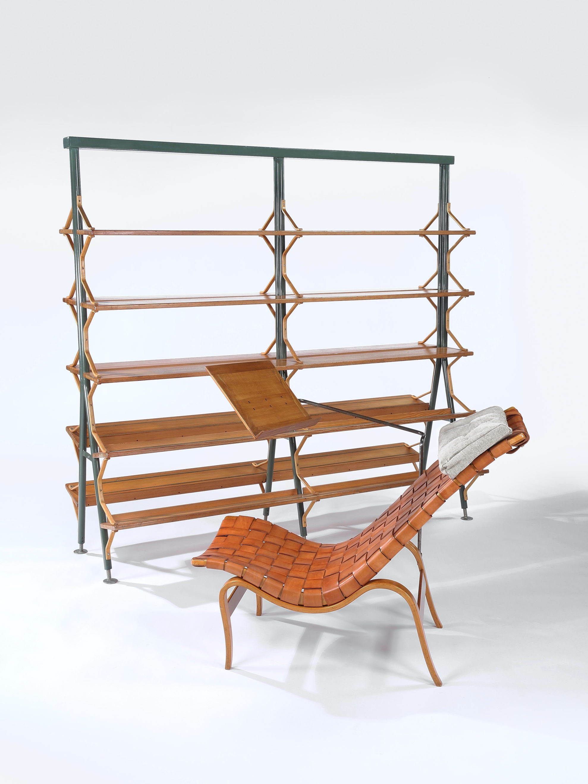 Eva Chair with Anita Bookcase
